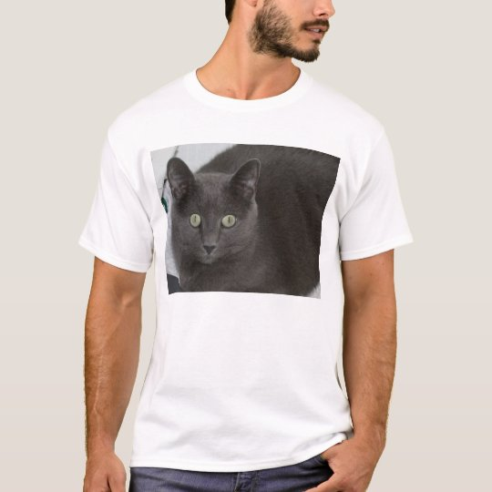 Grey Cat with Stunning Green eyes T-Shirt