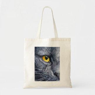 Grey Cat - Yellow Eye by schukina Bags