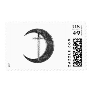 Grey Celtic Sword and Moon Postage