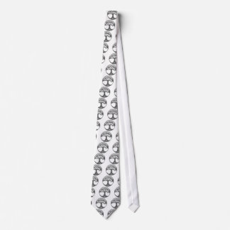 Grey Celtic Tree of Life with Celtic Knot Leaves Neck Tie