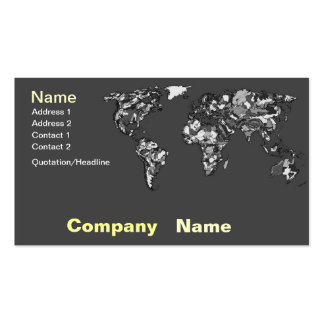 Grey charcoal earth business cards