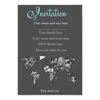Grey charcoal earth card