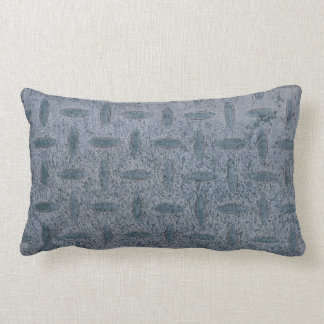 Grey checker plate double sided lumbar cushion