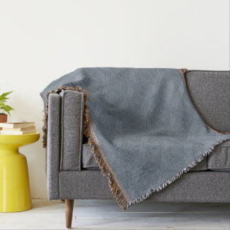 Grey checker plate throw blanket