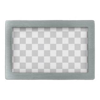 Grey Checkered Pattern Rectangular Belt Buckle