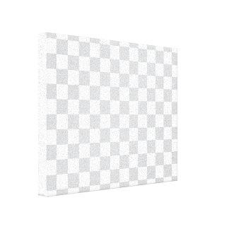 Grey Checkered Pattern Canvas Print