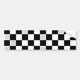 Grey Checkers Bumper Sticker
