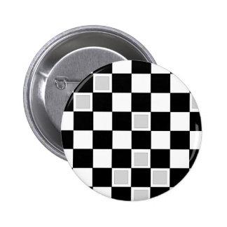 Grey Checkers Button