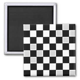 Grey Checkers Magnet