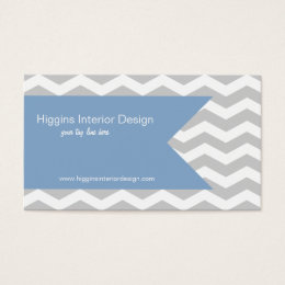 Grey Chevron Buiness Cards