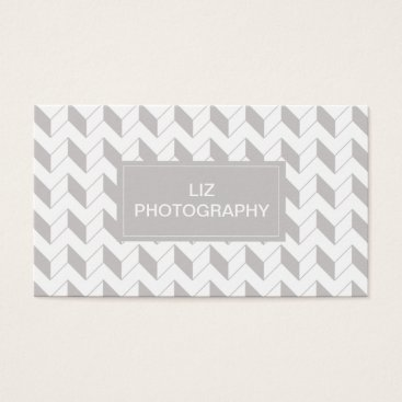 Professional Business Grey Chevron Business Card