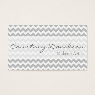 Grey Chevron Business Cards