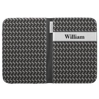 Grey Chevron Kindle Keyboard Cases