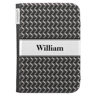 Grey Chevron Kindle Cases
