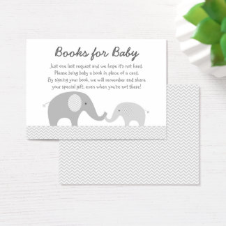 Grey Chevron Elephant Book Request Cards