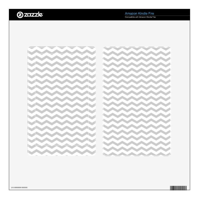 Grey Chevron Kindle Fire Decals