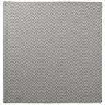 Grey Chevron Pattern Printed Napkins