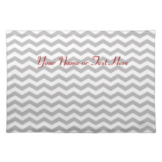 Grey Chevron Personalized Placemat