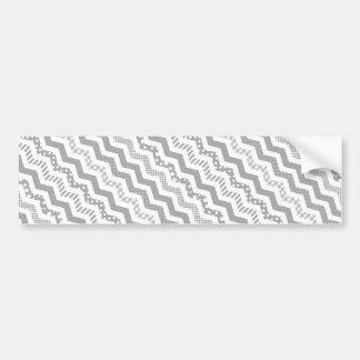 Grey Chevron with a twist Bumper Sticker