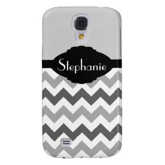 Grey Chevron Zig Zag stripes HTC Vivid Case