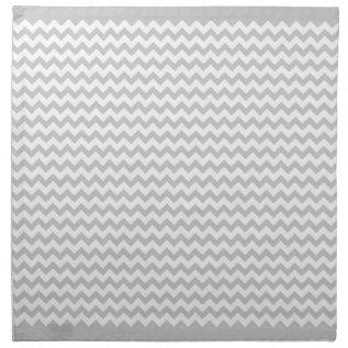 Grey Chevrons On White Zig Zag 4 Cloth Napkins at Zazzle