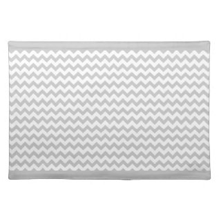 Grey Chevrons On White Zig Zag Placemats at Zazzle