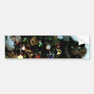 Grey Christmas Bumper Sticker