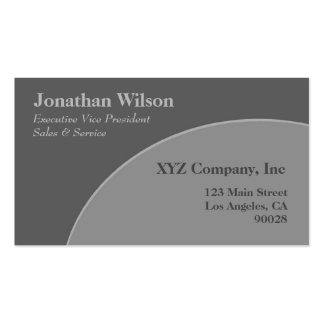 Grey circle Double-Sided standard business cards (Pack of 100)