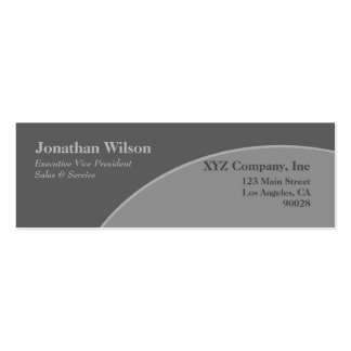 Grey circle Double-Sided mini business cards (Pack of 20)