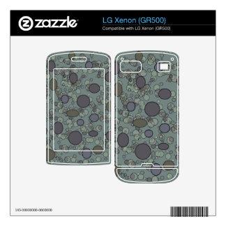 grey circle dots design decal for the LG xenon