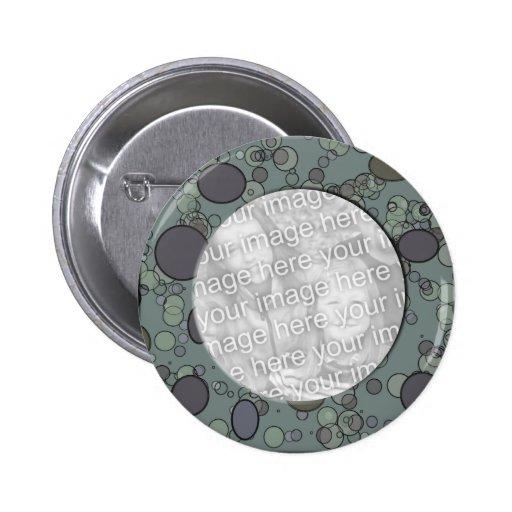 grey circle frame template button