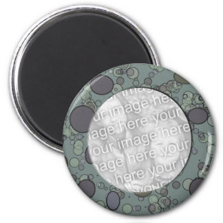 grey circle frame template fridge magnet