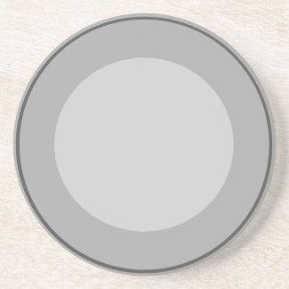 Grey Circles Drink Coaster