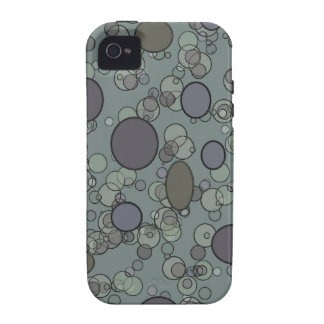 Grey Circles iPhone 4/4S Covers