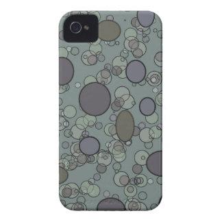 Grey Circles iPhone 4 Cases