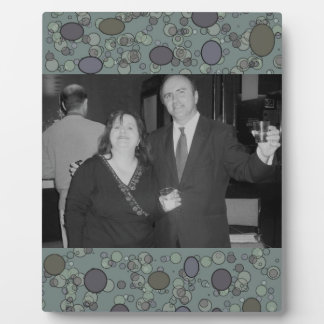 grey circles photoframe plaque