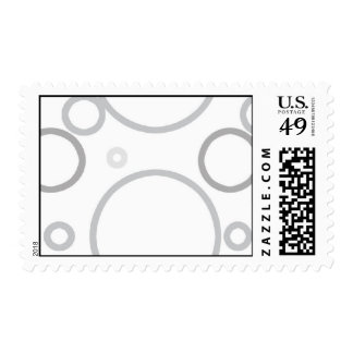 Grey Circles Postage Template