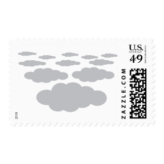 grey clouds weather stamps