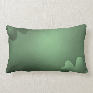 Grey Clovers Throw Pillow