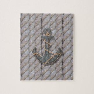 grey coastal beach rope nautical anchor jigsaw puzzle