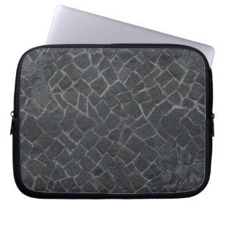 Grey Cobblestone Rock Path Texture Background Laptop Sleeves