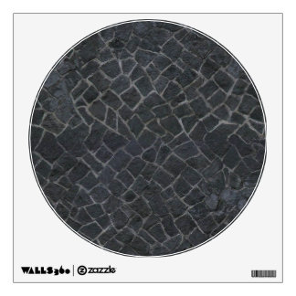 Grey Cobblestone Rock Path Texture Background Wall Sticker