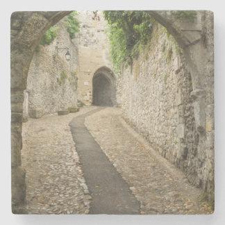 Grey Cobblestone street, France Stone Coaster