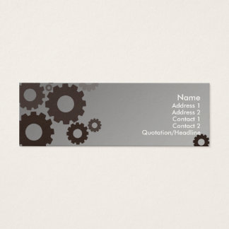 Grey Cogs - Skinny Mini Business Card