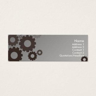 Grey Cogs - Skinny Mini Business Card