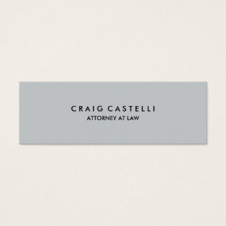 Grey Color Background Standard Mini Business Card