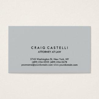 Grey Color Background Standard Size Business Card