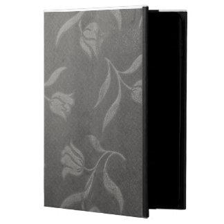 Grey Color Decent Floral Pattern ipad Case