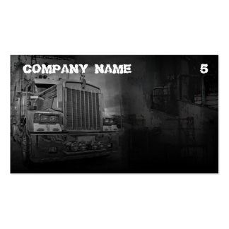 Grey Colored Business Card For A Truck Company