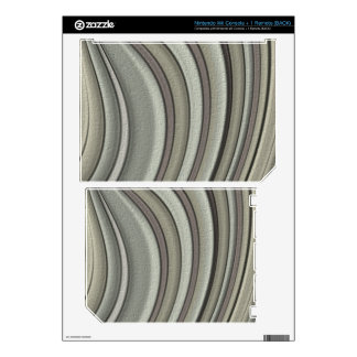 Grey colored line pattern nintendo wii skins